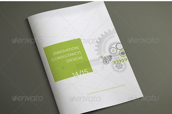 8 page a4/letter corporate business brochure
