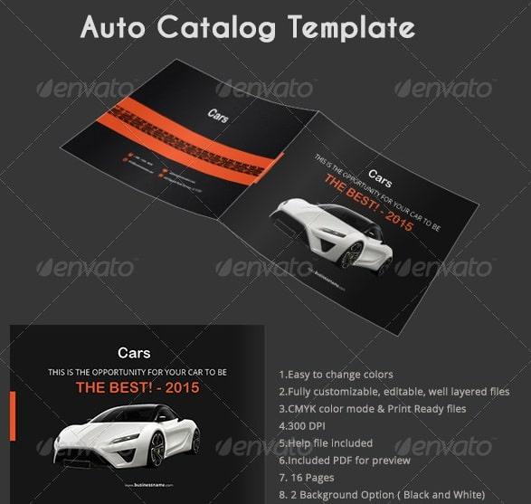 auto catalog template