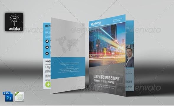 bifold business brochure template vol04