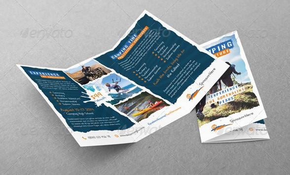 camping adventure tri-fold templates