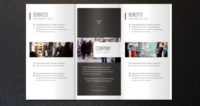 2014 free premium brochure templates for Free indesign tri fold brochure template