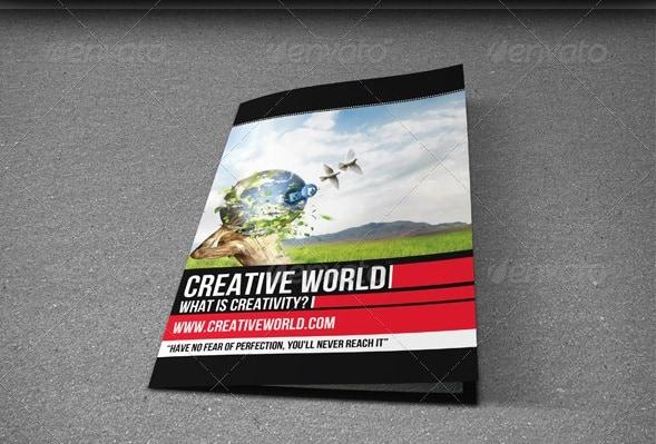 creative world - bifold brochure