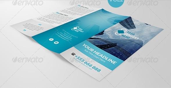 elegant multipurpose trifold brochure vol 2