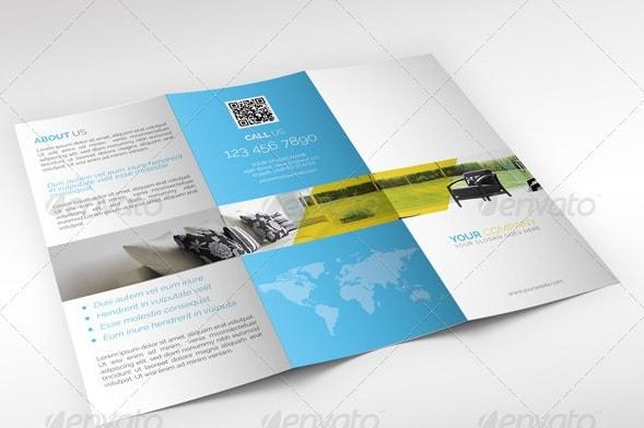 interior designing tri-fold brochure