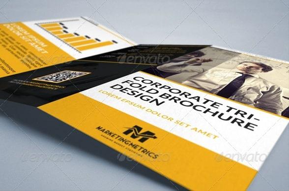 marketing metrics tri-fold brochure