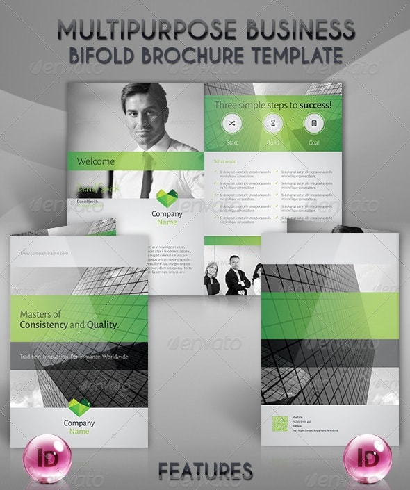 multipurpose business bifold brochure template