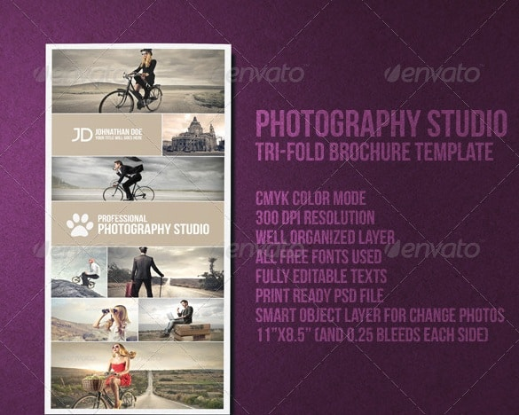 photography studio brochure and business card