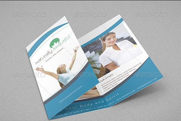 salon spa trifold a4 brochure - all photo included