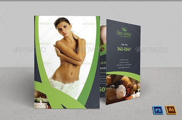 spa & beauty saloon bi-fold brochure | volume 5