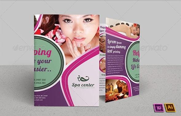 spa & beauty saloon bi-fold brochure | volume 7