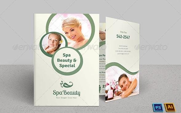 spa & beauty saloon bi-fold brochure | volume 8