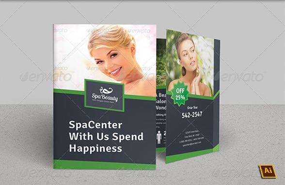 spa & beauty saloon bi-fold brochure | volume 9