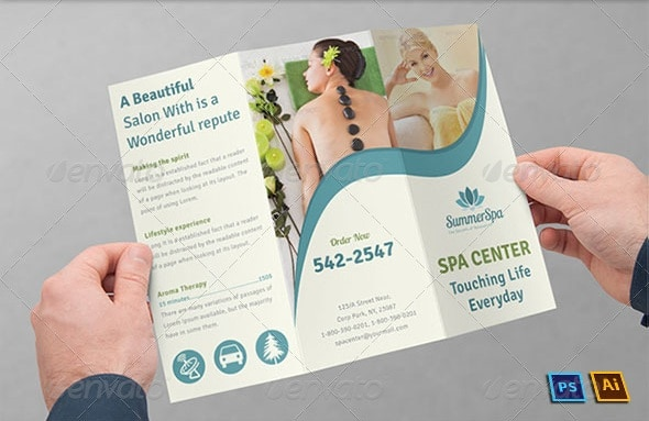 2014 Free Premium Brochure Templates – Spa Brochure Template