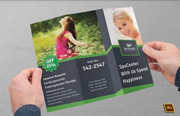 spa & beauty saloon tri-fold brochure | volume 9
