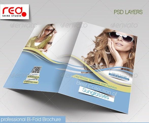 sunglasses fashion store brochure template