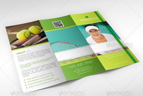 tennis club trifold brochure