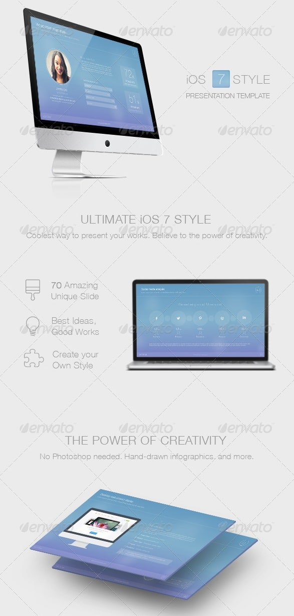 7 style powerpoint template