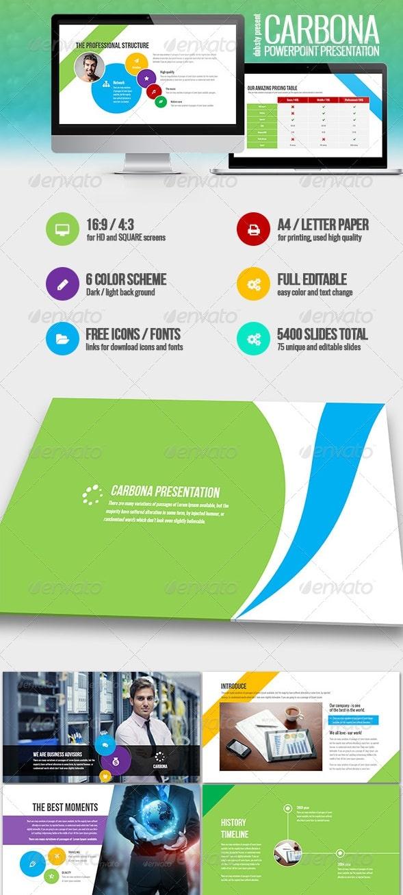 carbona - professional business presentation