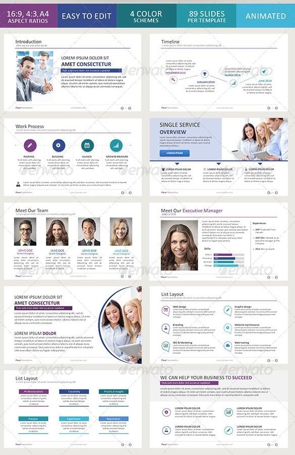flexa powerpoint presentation template
