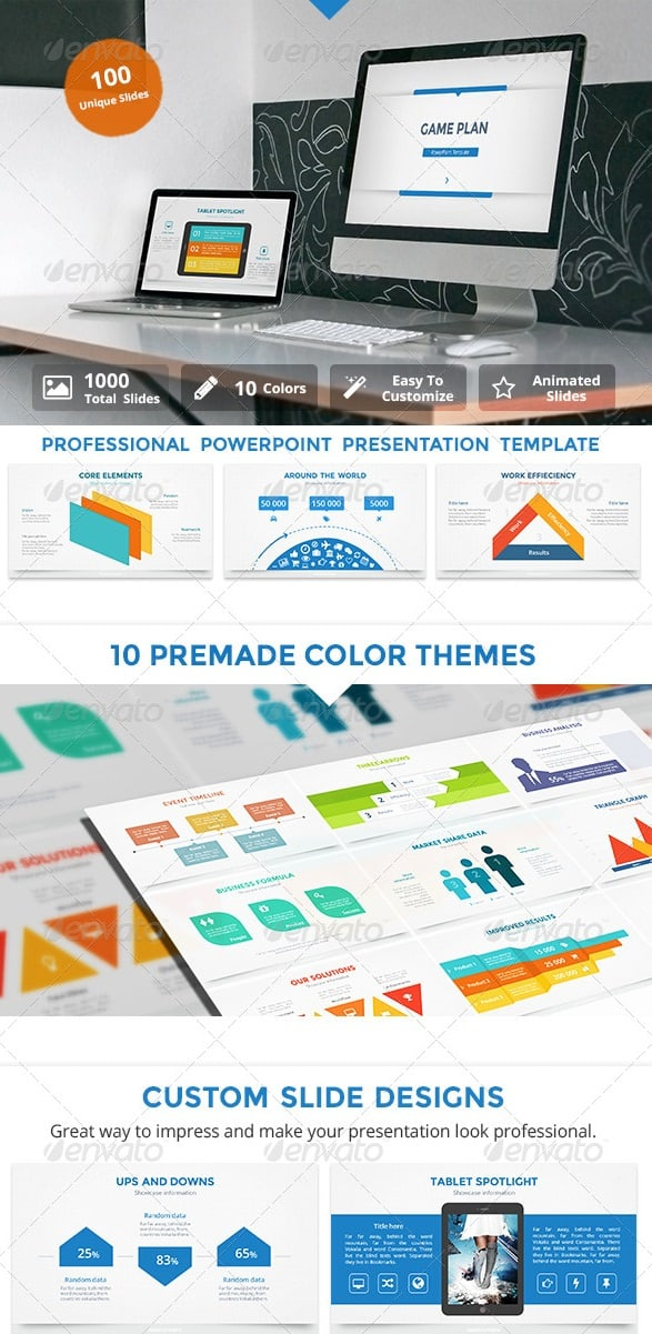 game plan v2 powerpoint template