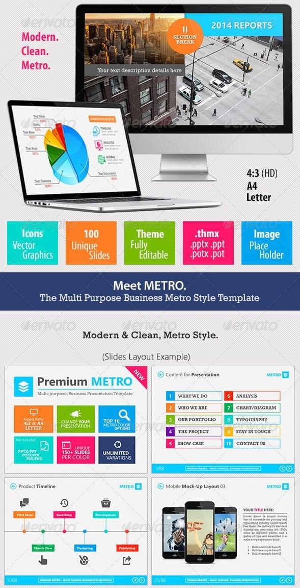 premium metro - multipurpose business template