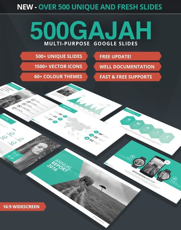 500gajah | multi-purpose google slides template