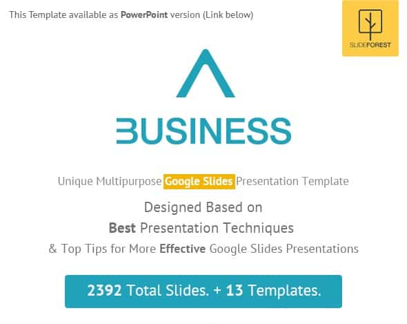 a business - multipurpose google slides presentation template