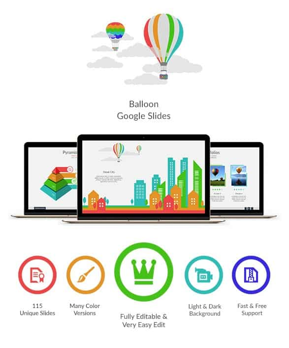 balloon google slides
