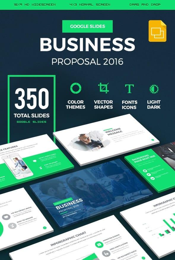 business proposal 2016 google slides presentation template