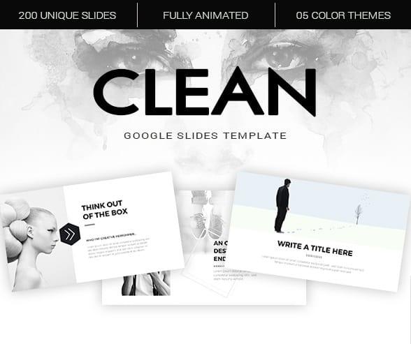 clean google slides template