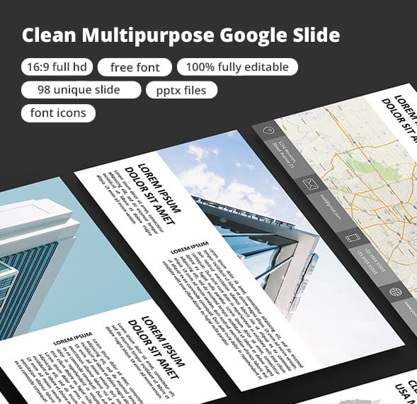 clean multipurpose google slide