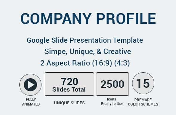 company profile google slides presentation template