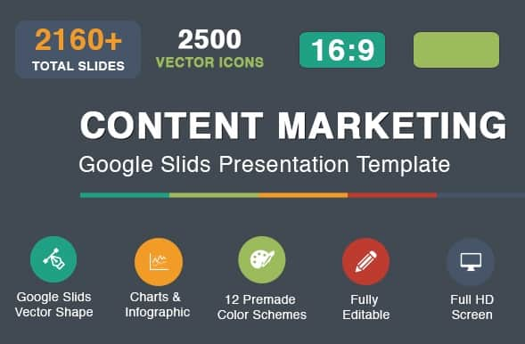 content marketing google slides template