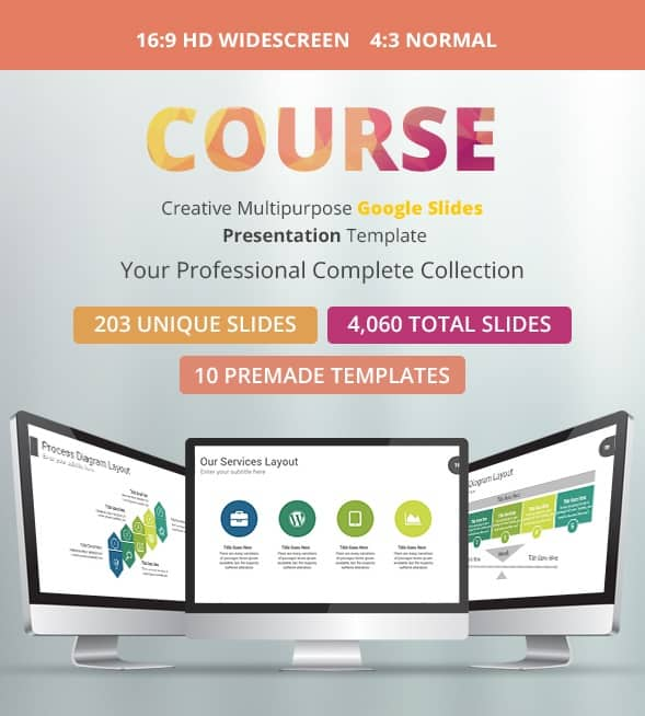 course multipurpose google slides presentation template
