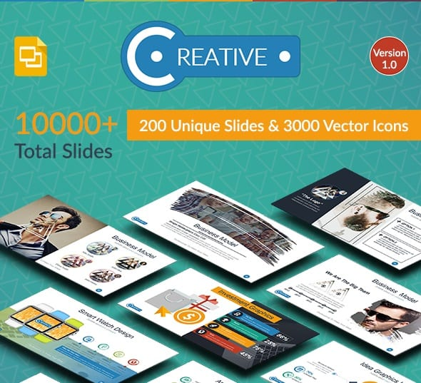 creative google slide presentation template