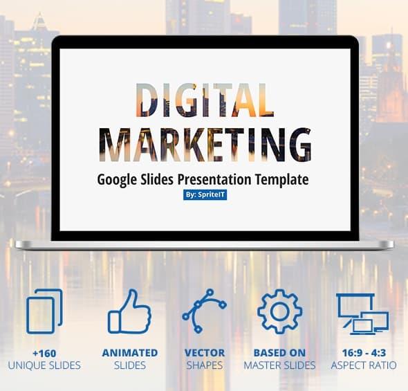 digital marketing google slides presentation template