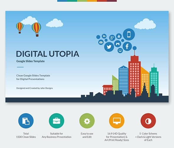 digital utopia google slides template