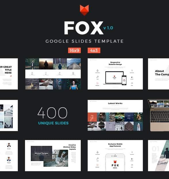 fox - ultimate google slides template
