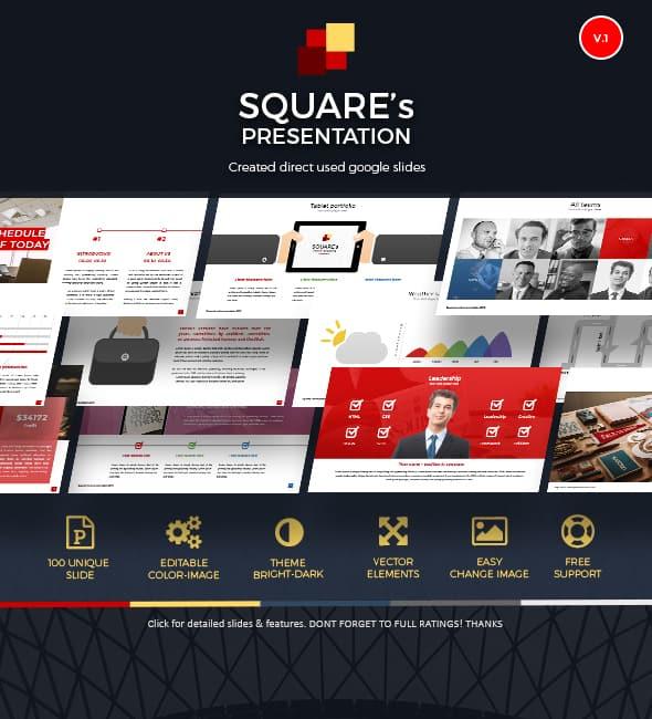 google slide online presentation template