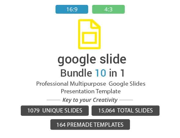 google slides 10 in1 google slides template bundle