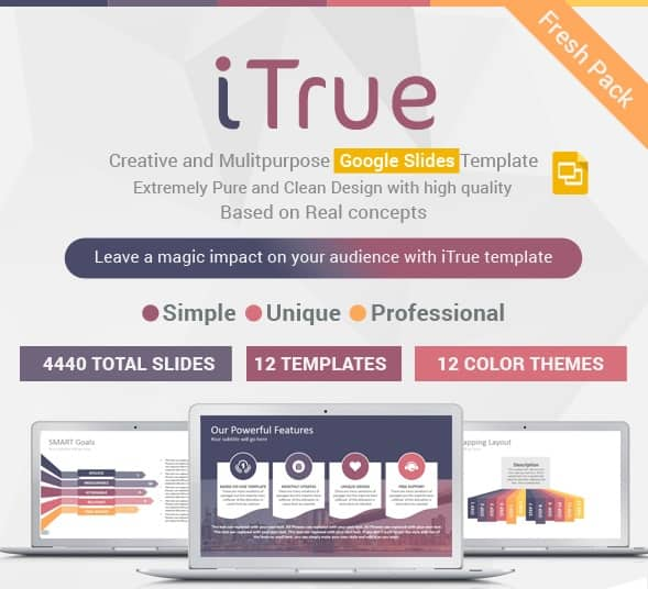 itrue multipurpose google slides presentation template