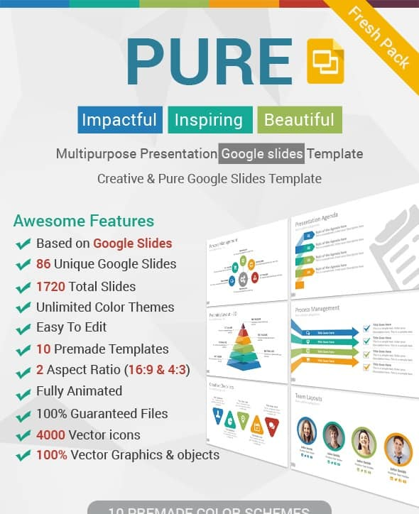 pure google slides presentation template