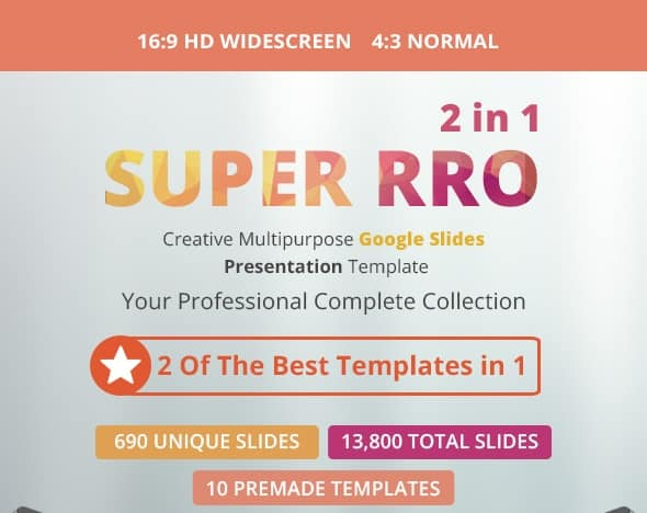 super pro multipurpose google slides template bundle