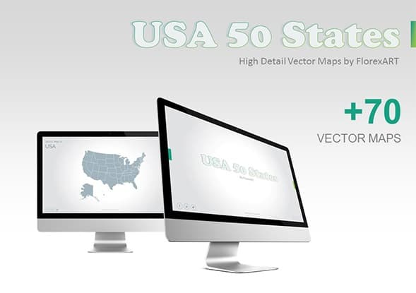 usa 50 states maps