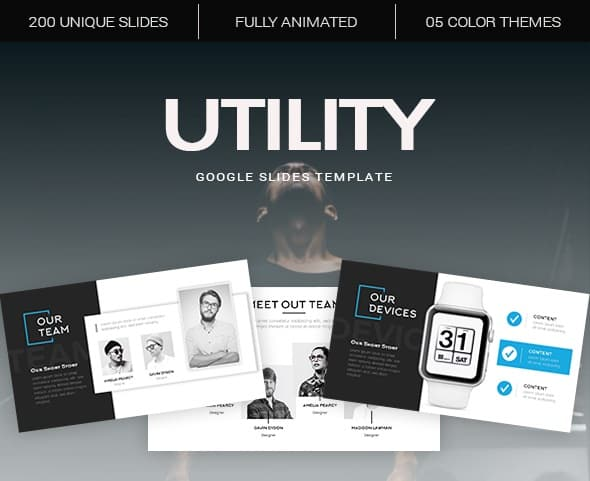 utility google slides template